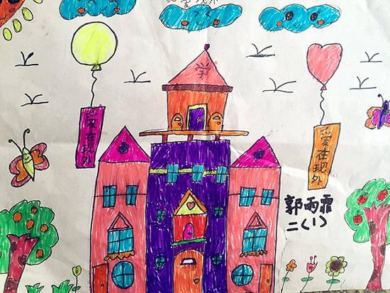 儿童高楼居民楼简笔画