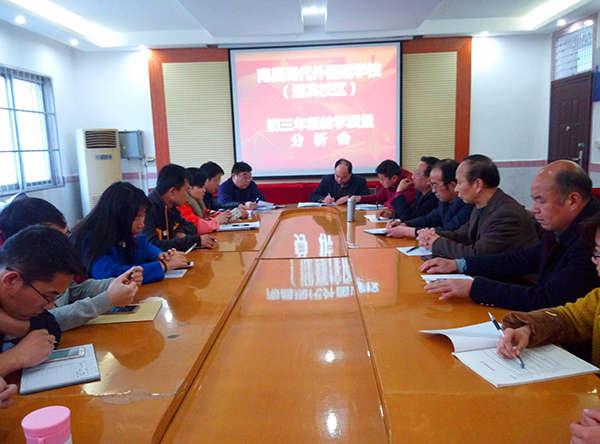 南昌现代外国语学校(迎宾校区) 初三年级教学质量分析会