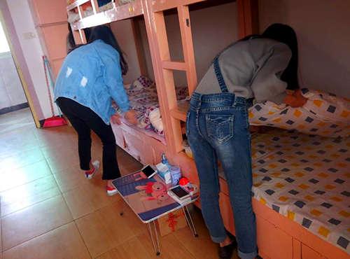 新万博城娱乐app(迎宾校区) 开展学生寝室内务整理比赛